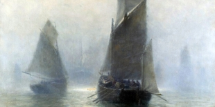 "William Edward Norton ""Segelboote im Nebel"" (ca. 1900)"