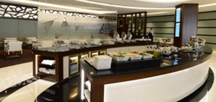 Die First und Business Class Lounge von Etihad in Abu Dhabi